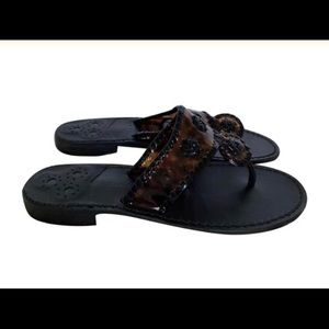 Jack Rogers Tortouse & Black Sandals / Size 8